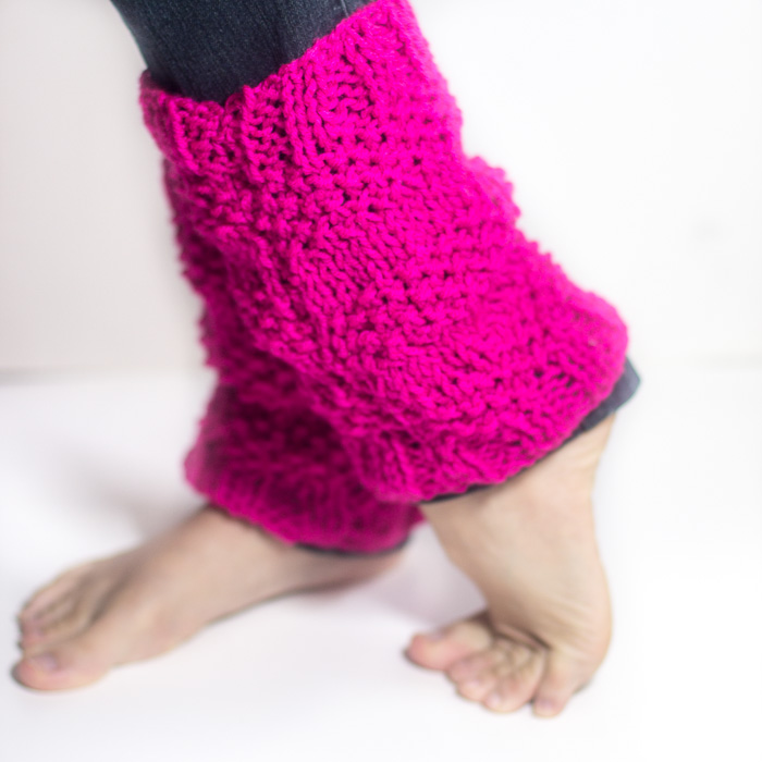 Textured Knitted Leg Warmers 1