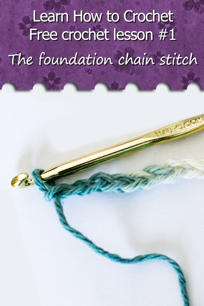 Learn How To Crochet The Foundation Chain Stitch Crafty Tutorials
