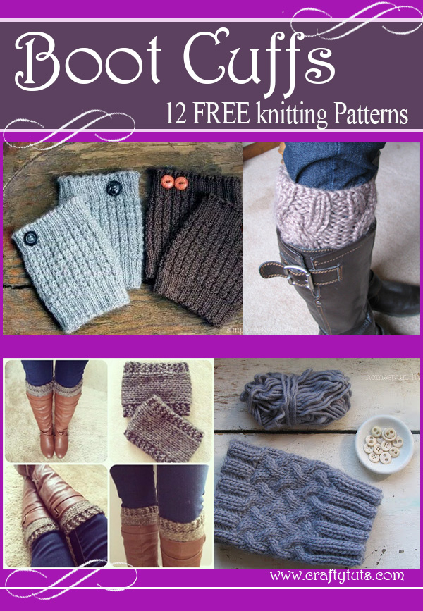 Boot cuffs free knitting patterns - Crafty Tutorials