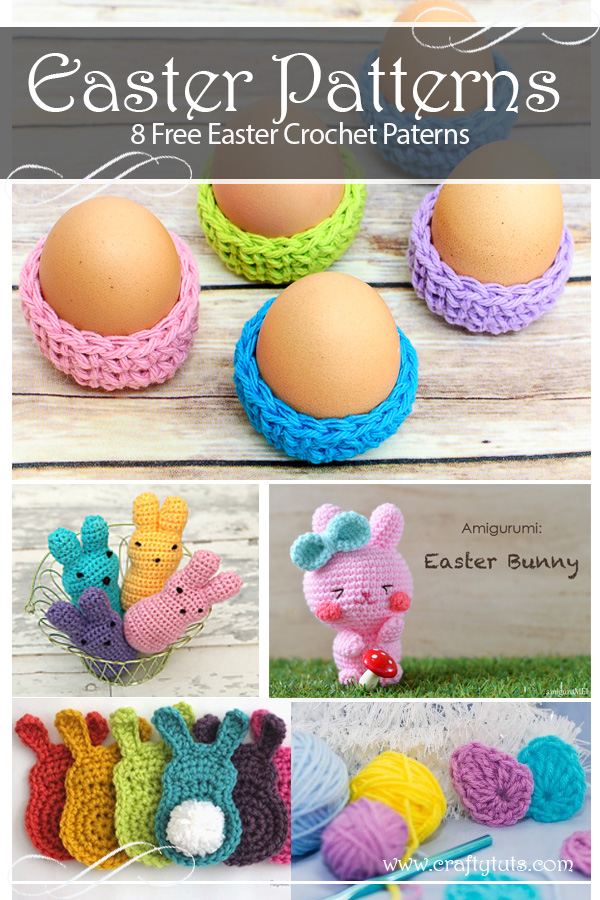 8 free crochet easter patterns. Easter is just around the corner, and if we want to finish any crafty project we need to start pretty much now.