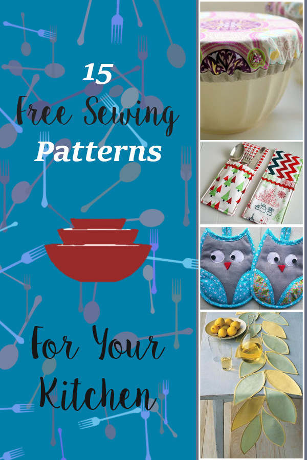 15 Free Sewing Patterns & Projects For Your Kitchen 1