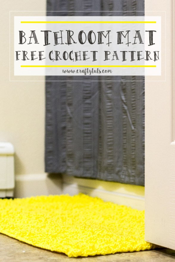 Bathroom Mat Free Crochet Pattern - Crafty Tutorials