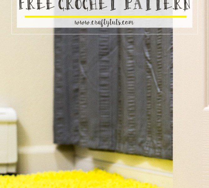 Bathroom Mat Free Crochet Pattern