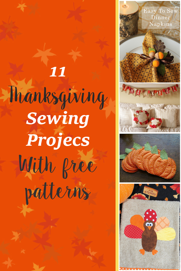 11 Thanksgiving Sewing Projects 1