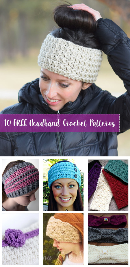 Free Crochet Headband Patterns Crafty Tutorials
