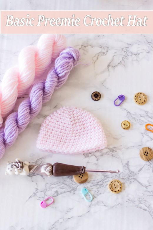 Basic Preemie Crochet Hat Free Pattern 3