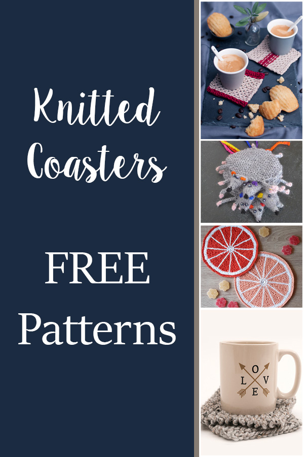 10 FREE Knitting Coaster Patterns