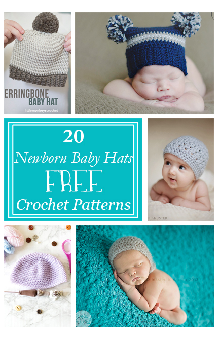 Crochet Baby Hats For Newborns Free Patterns Crafty Tutorials