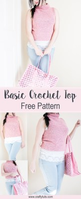 Crochet basic turtleneck top Pattern