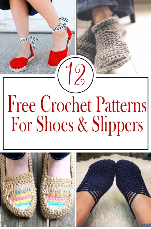 Free Crochet patterns for shoes and slippers 20