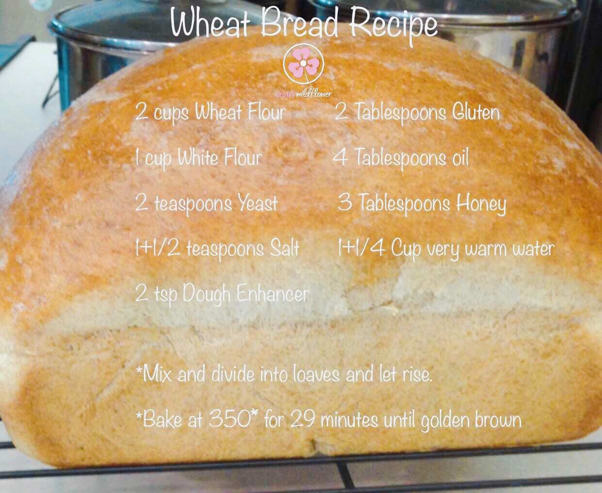 Delicious Wheat Bread Recipe - Wellness Wednesday