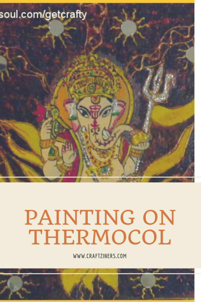 How To Do Painting On Thermocol Sheet Shri Ganesh Ji