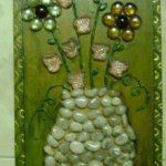 Stone and Pebble Wall Hanging