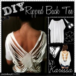 DIY Ripped Blouse