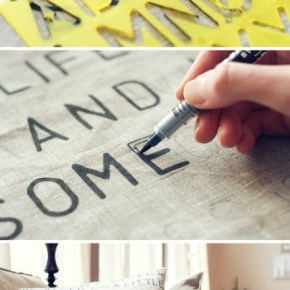 How to make Stencil Cushion