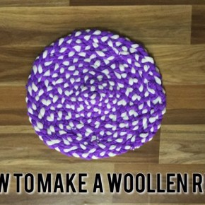 How to make a Rug out of wool
