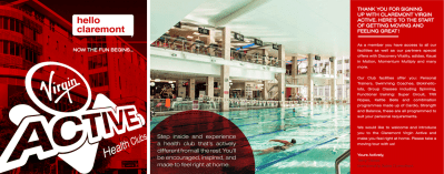 Taken from a booklet designed for Virgin Active Health Club; aimed at welcoming new members
