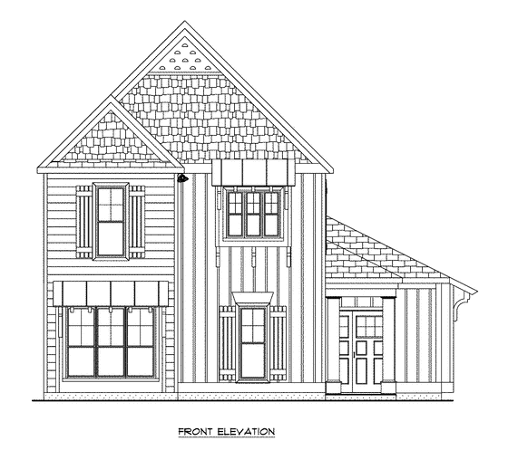 Front Elevation for Craig Builders Villager Courtyard home plan