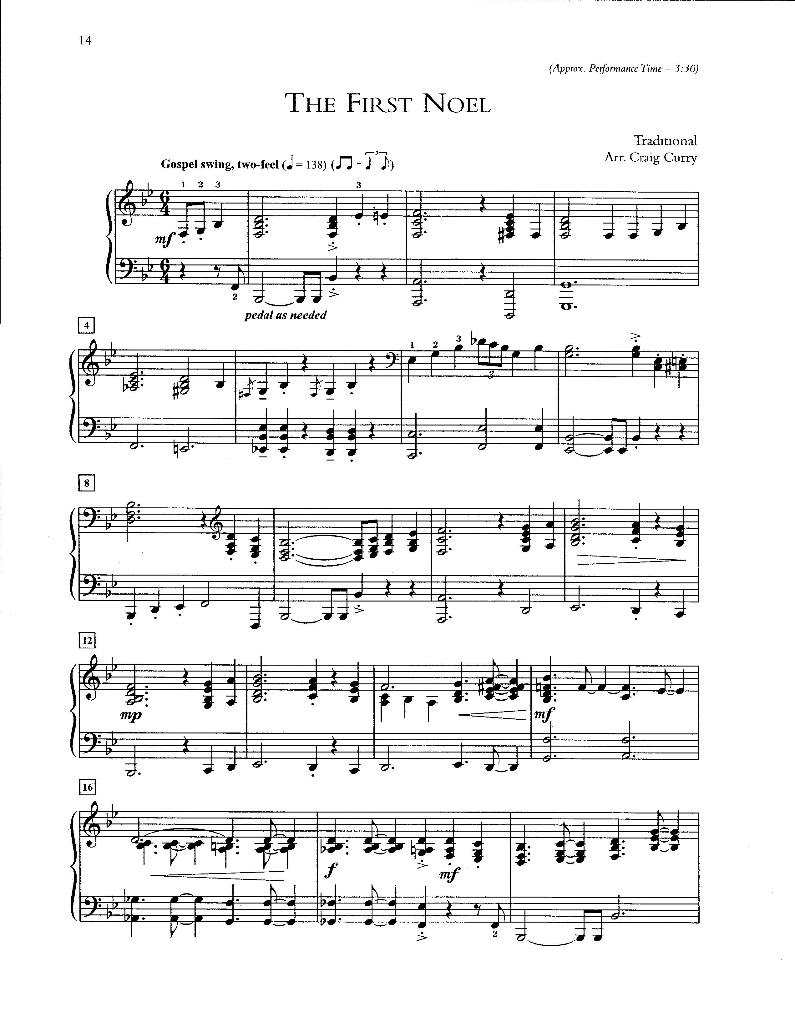 White Christmas Jazz Piano Sheet Music
