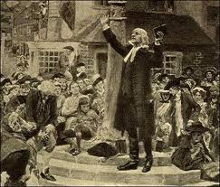 John Wesley (1703 –1791) preaching outdoors