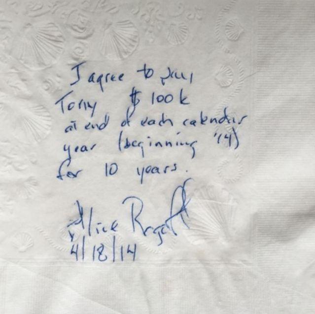 a napkin