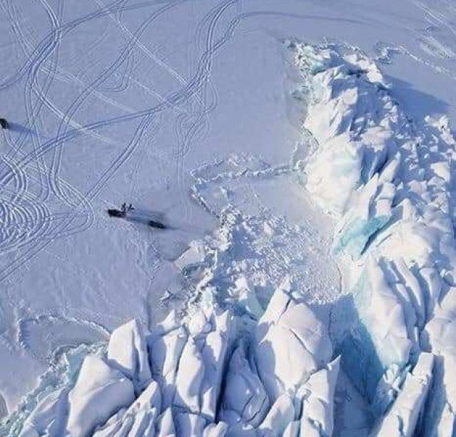 glacier pressure ridges