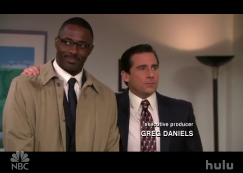 Idris Elba as Charles and Steve Carell as Michael