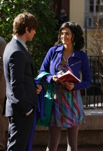 Nate and Vanessa outside of graduation