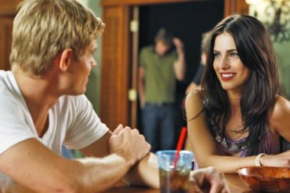 Trevor Donovan as Teddy and Jessica Lowndes as Adrianna