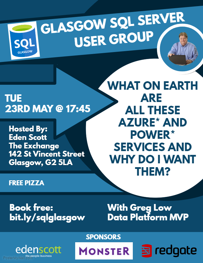 Glasgow SQL User group May 2017 Poster