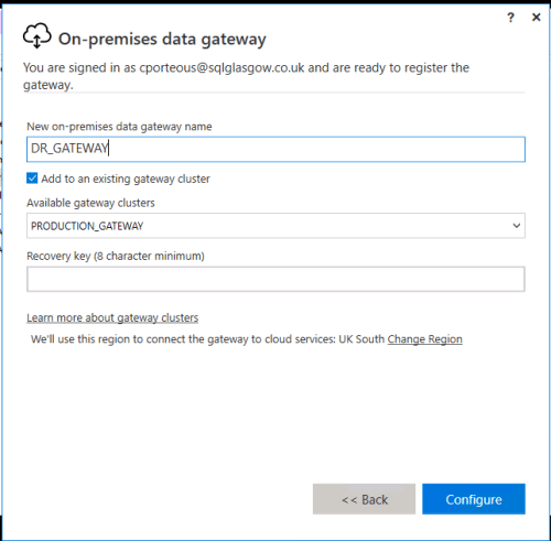 Power BI Data Gateway Setup