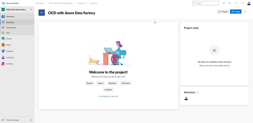 Azure DevOps interface