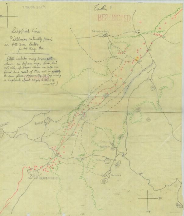Map of Siegfried Line