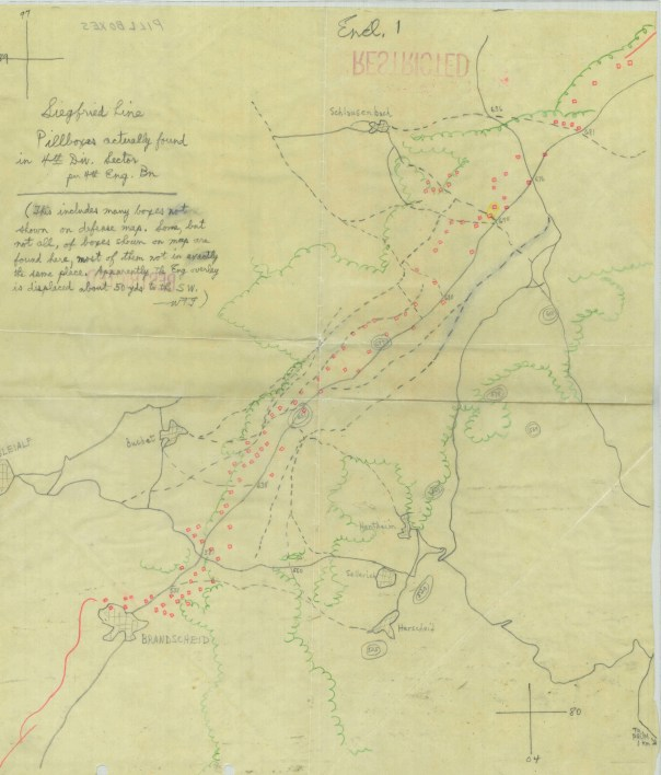 Map of Siegfried Line
