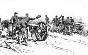 Artillery Fire at Gettysburg