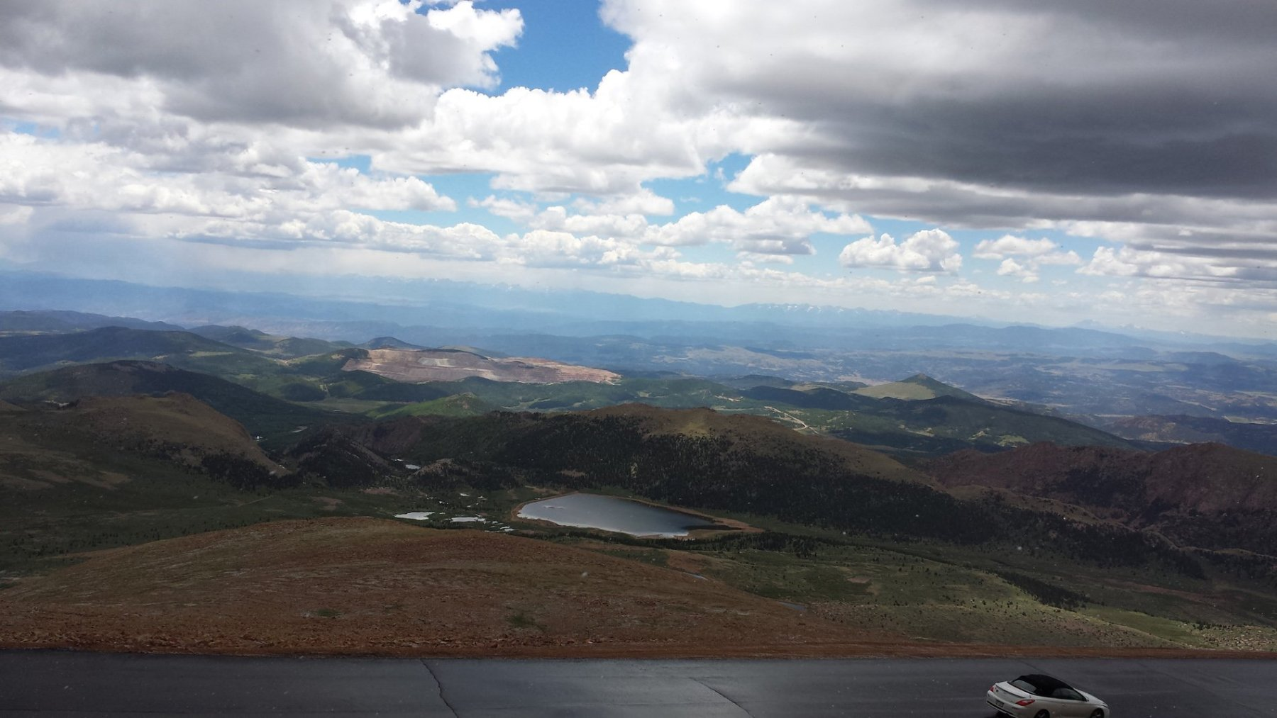 The best view from Pikes Peak are visible on the drive down from the summit. Craigslegz.com