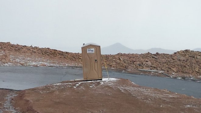 Relief is a lonely outpost on a hairpin turn during the Pikes Peak Hill Climb races. Craigslegz.com