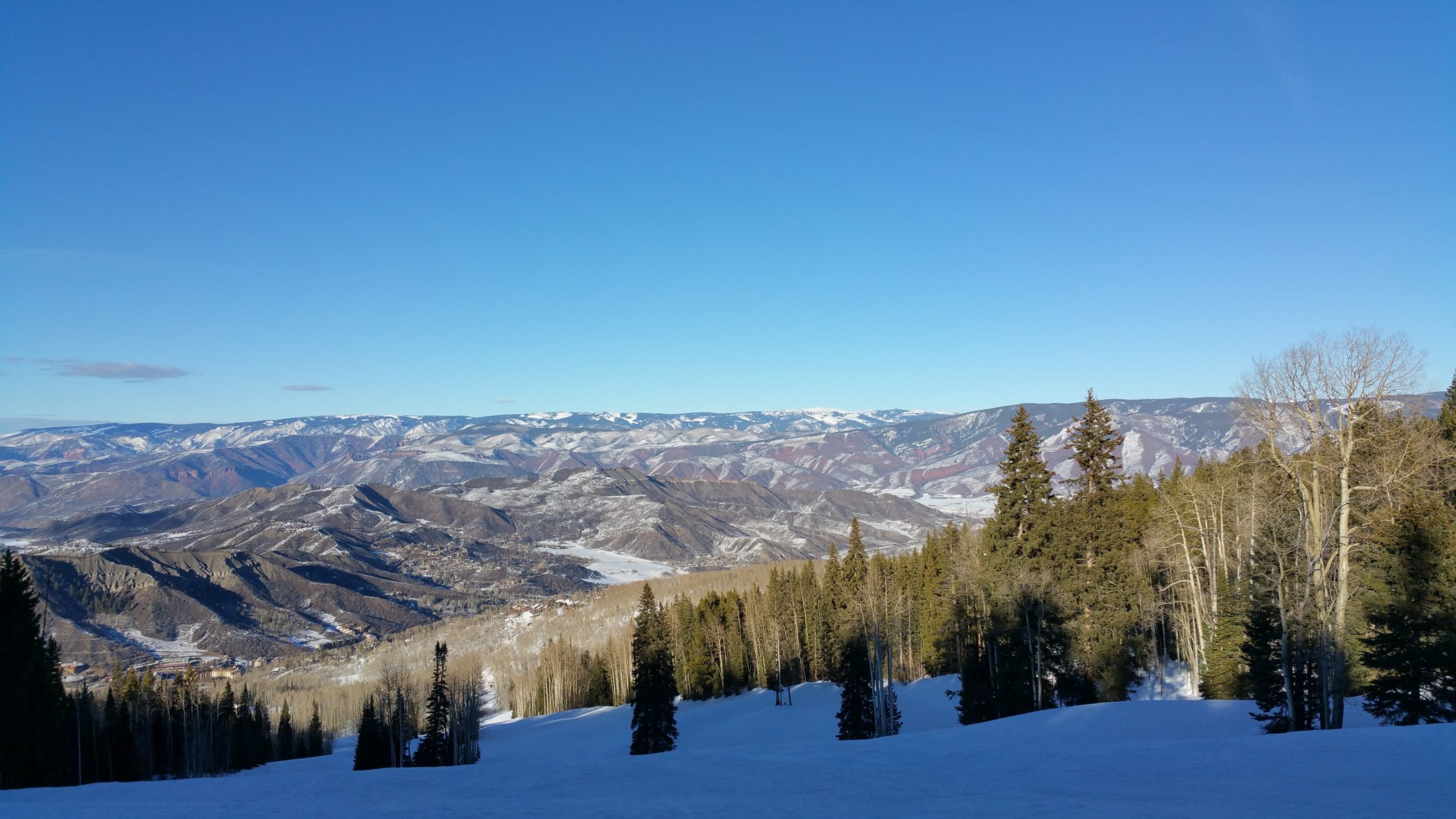 Gunner's View ski run is one of the more picturesque on Snowmass Mountain. Craigslegz.com