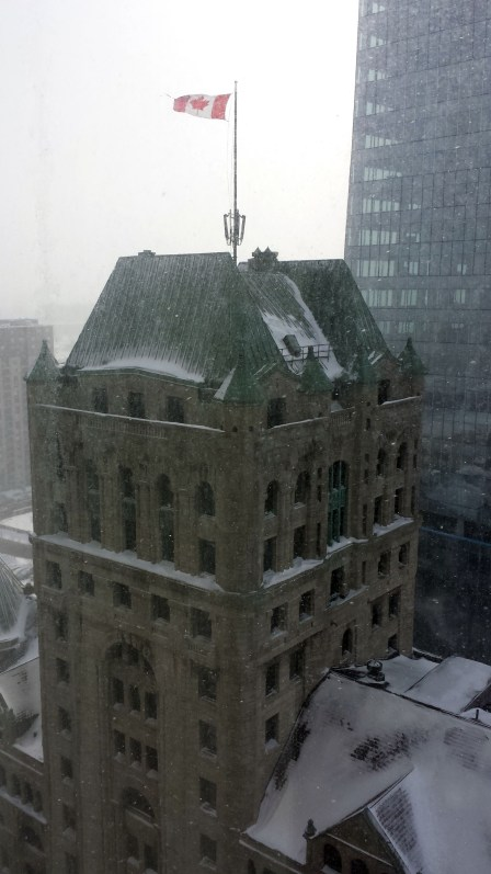 The wind can be withering in downtown Montreal. Craigslegz.com