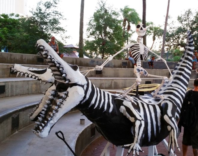 Skeletons are plentiful at the Day of the Dead celebration in Fort Lauderdale. Craig Davis/Craigslegz.com