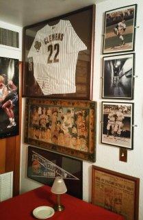 Former pitcher Roger Clemens' jersey is displayed in the 4th Base Restaurant. (Craig Davis/Craigslegztravels.com)