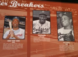 Baseball's black stars were highlighted in the Negro Leagues exhibit at All-Star FanFest in 2017. (Craig Davis/Craigslegz.com)