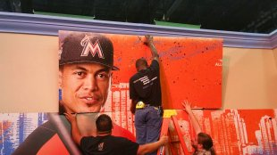 Miami Marlins star Giancarlo Stanton was a figure for 2017 All-Star events in 2017. (Craig Davis/Craigslegz.com)