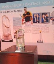 The World Series trophy on display at 2017 All-Star FanFest. (Craig Davis/Craigslegz.com)