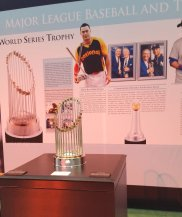 The World Series trophy on display at 2017 All-Star FanFest. (Craig Davis/Craigslegz.com)
