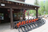 The ski shop rents bikes during the summer at Sundance Mountain Resort. (Craig Davis/Craiglegztravels.com)