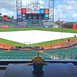 BeBop the Craigslegz Travel Aien got to experience the best pressbox view in Major League Baseball at San Francisco's AT&T Park. (Craig Davis/Craigslegztravels.com)