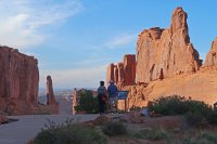 The Park Avenue area is the first stop for hikers at Arches National Park. (Craig Davis/Craigslegztravels.com)