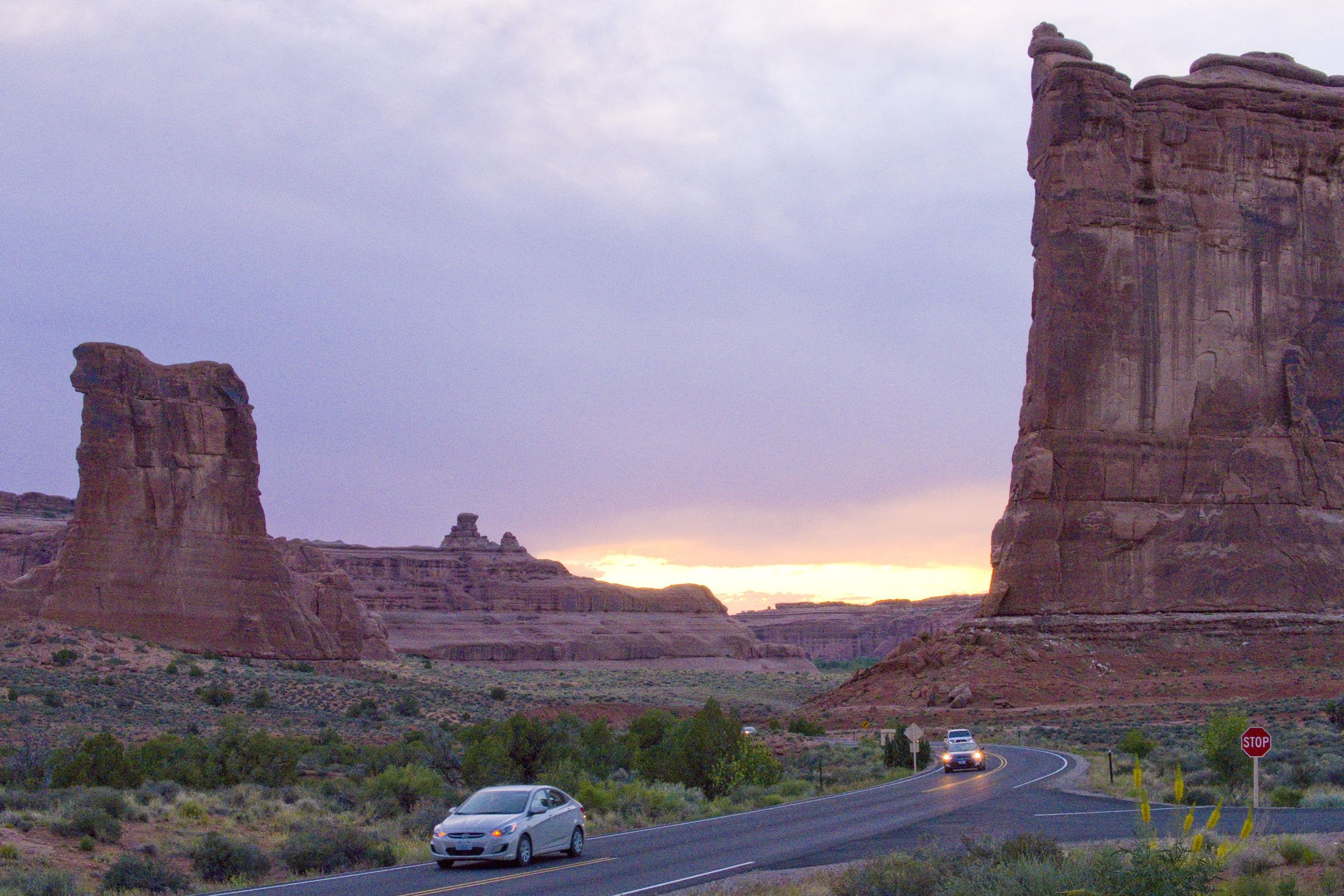 Sunset is prime viewing at Arches National Park in Utah. (Craig Davis/Craigslegztravels.com)
