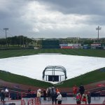 The Nationals final spring training game at Space Coast Stadium in 2016 before moving to West Palm Beach was rained out. (Craig Davis/Craigslegztravels.com)
